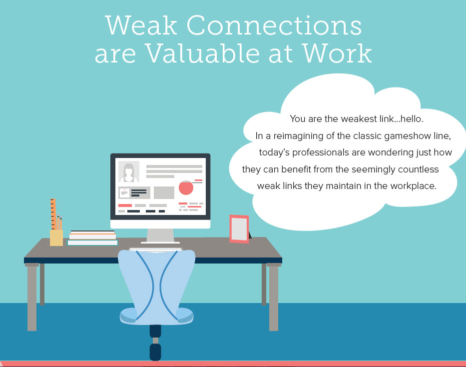 Weak Connections are Valuable at Work